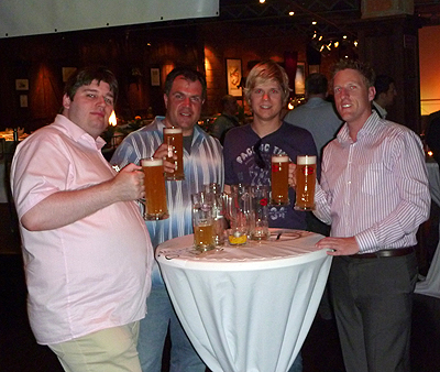 Johannes Siemers, Marco Janck, ich & Markus Kellermann